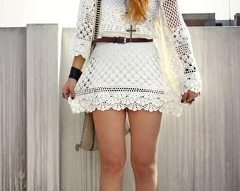 MADE TO ORDER  summer crochet dress  RI91- Replica