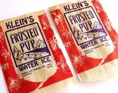 Vintage Wild West Frosted Pop Bags (2) - Great Holiday Packaging, Klein Ice Cream, Houston Texas