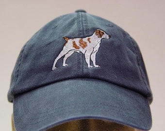 BRITTANY SPANIEL DOG Hat - One Embroidered Men Women Cap - Price Embroidery Apparel - 24 Color Caps Available