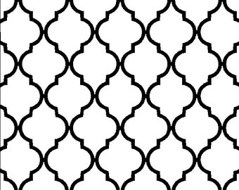 Quatrefoil design decal repeating pattern one sheet in choice of size