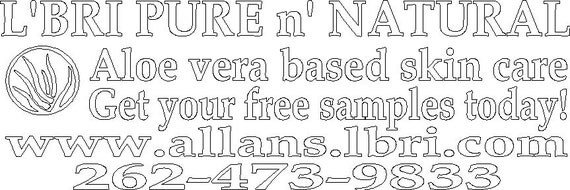 Custom Car Window Advertising Decal 45 by 15 inches