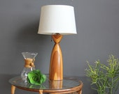 Modern Wood Turned Lamp
