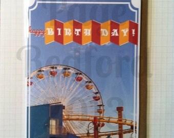 Retro Colorful Happy Birthday Card
