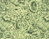 Made In Italy Authentic Florentine Paper By Carta Varese Green Floral  IP V809G