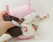 BEST SELLER -Jumble Ball Sensory Baby Block with rattle and ribbon tags - Baby Girl