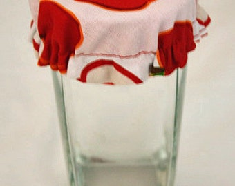 Reusable Wine Cup Glass Soda Can Robert Kaufman Metro Market Apple Fabric