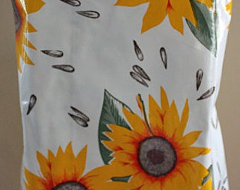 Oil Cloth Apron Body Full Laminate Adult Yellow Sunflower