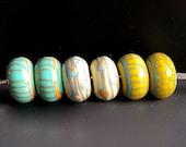 MruMru handmade lampwork beads, earring Three pairs set.  Sra