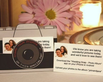 PicShare Boxes Printable (Black) -- DIGITAL -- Tell your wedding guests how to share photos online!  (share your event #hashtag)