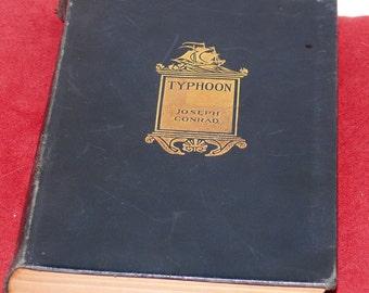 Typhoon - Vintage 1927 Novel - Joseph Conrad - LEATHER BINDING