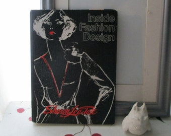 "FASHION DESIGN BOOK Vintage Seventies ""Inside Fashion Design"" Sharon Lee Tate"