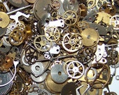 OLD Lot of GEARS STEAMPUNK Watch 5g Parts Pieces Cogs Artist's Lot Steam Punk Movement