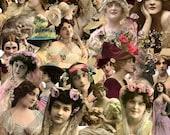 Digital Kit- No.9 -For Digital Art- Just Ladies 3  -25 Different Ladies PNG files-Instant Download