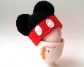 Mickey Mouse  Egg Hat - Egg Warmer - Egg Cozy,stocking stuffer,christmas gift idea,under 20usd