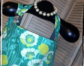 Sale 20% OFF Teal Pristine Poppy  HideAway Nursing Cover Up with OVERALL BUCKLE- Ready 2 Ship