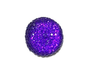 18mm round and sparkly cabochon in Purple