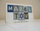 MAZEL TOV Bar Mitzvah Handmade Card