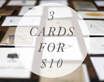 3 Mix and Match Cards