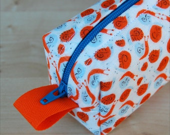 Orange Snails Sm CA Roll (pencil or makeup case)