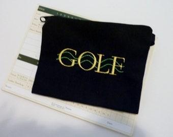 Golf Accessory Bag, Golf Tee Bag, Golf Pouch - GOLF