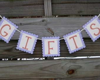 Gifts Banner - Custom Colors - Wedding Sign Decoration