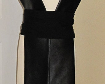 Star Wars Sith black Pleather Tabards with cotton sash in 6 sizes