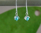 Aqua Pearls Lily of the Valley Earrings