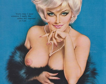 49#  Mature Rare Early 60's Vintage Vargas Pin Up Girl Playboy Picture NUDE Older Woman MILF