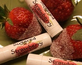 SUGARED STRAWBERRY Lip Balm Pink Gloss