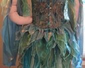 DDNJ Choose Colors and Fabrics Renaissance Fairy Pixie Sprite 4pc Cosplay Costume Larp Anime Plus Custom Made ANY Size Elf Medieval Con
