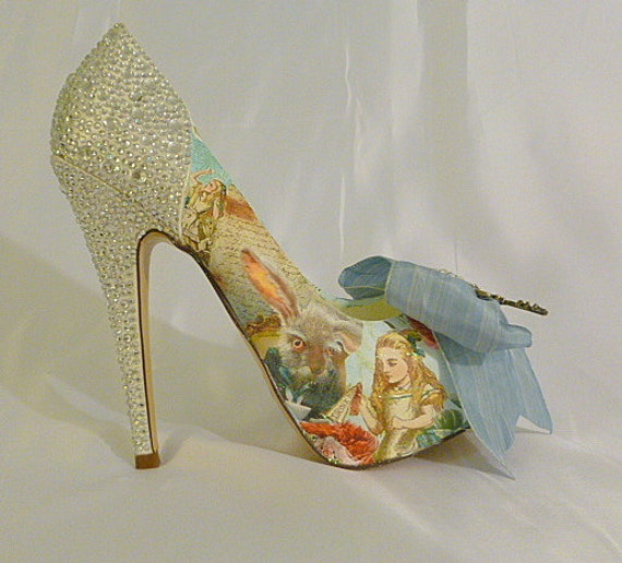 Alice In Wonderland Theme Wedding Shoes .. By