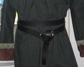 Black Leather Belt and Pair Black Leather Skirt Hike Skirt Chaser SET SCA Renaissance LARP Medieval Pennsic Pagan