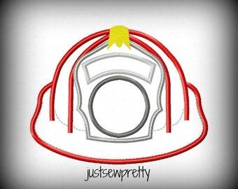 Fireman Hat Embroidery Applique Design