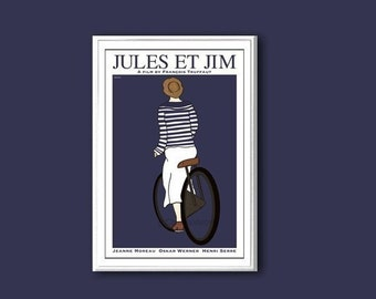 Jules et Jim movie poster in various sizes