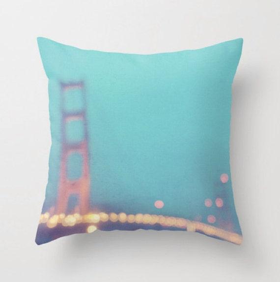 Decorative Pillows San Francisco : San Francisco pillow cover Golden Gate Bridge pillow