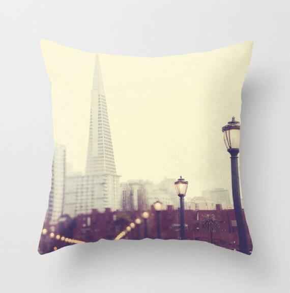 San Francisco throw pillow cover decorative pillows neutral