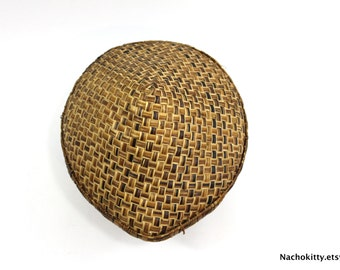 1900s Antique Japanese Farming Shade Hat | Handwoven