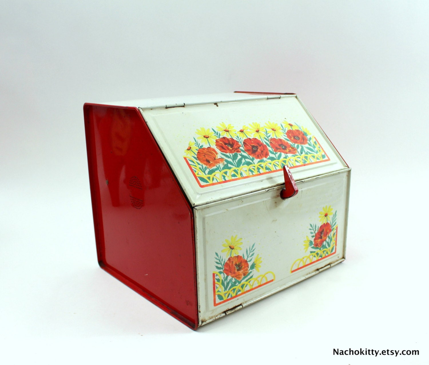 1950s Bread Box Storage Organization fice or by BarnOwlGoods