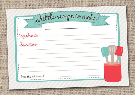 40 Recipe Card Template And Free Printables | Tip Junkie. 300+