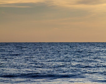 """Oversized Print Ocean Photography - Up to 40x60"""" Fine Art Photography Print - brilliant blue sea vertical - I Pine for You No. 1303-9614"""