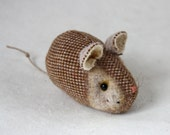 Mouse Plush Wool - Pocket Mouse - Sand Tweed