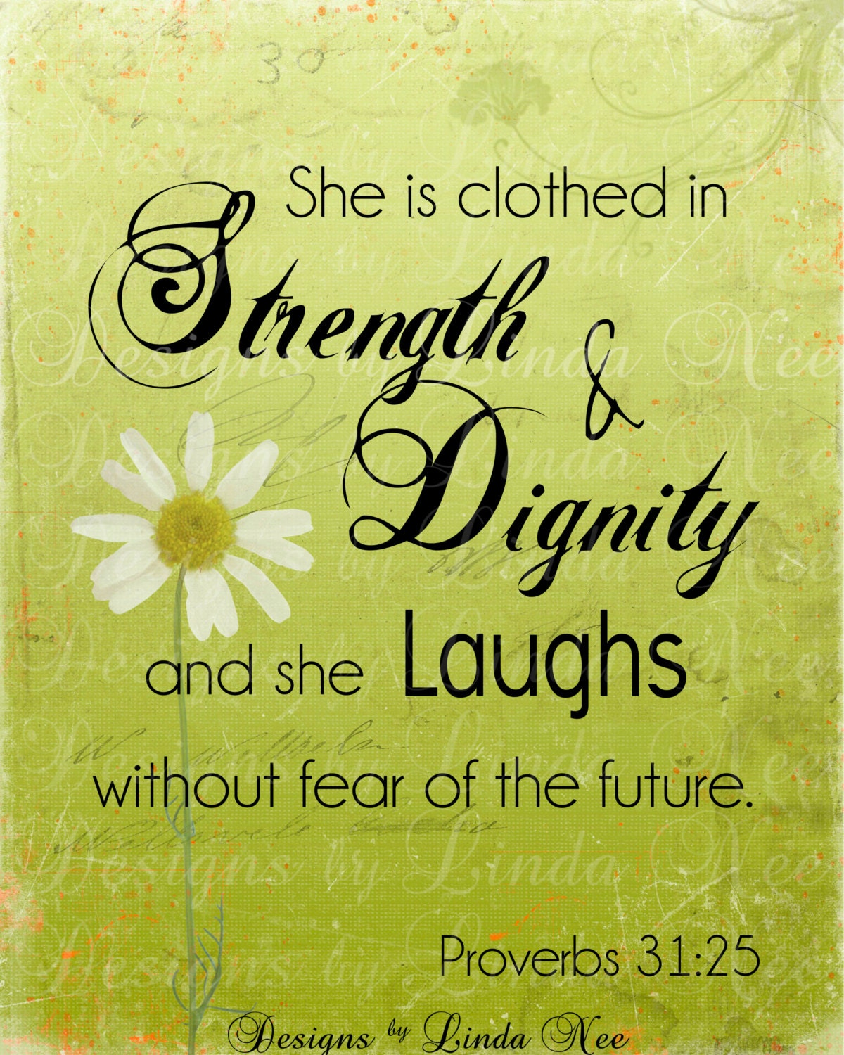Proverbs 31 25: PROVERBS 31:25 Woman Printable Typography By DesignsbyLindaNee