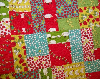 Locally Grown Baby Girl/Toddler Quilt - Marisa & Creative Thursday