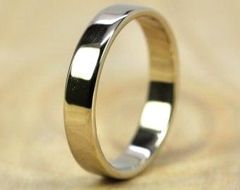 14K Palladium White Gold Wedding Band, 4mm, Recycled Gold Ring, Eco Friendly Wedding,  Sea Babe Jewelry