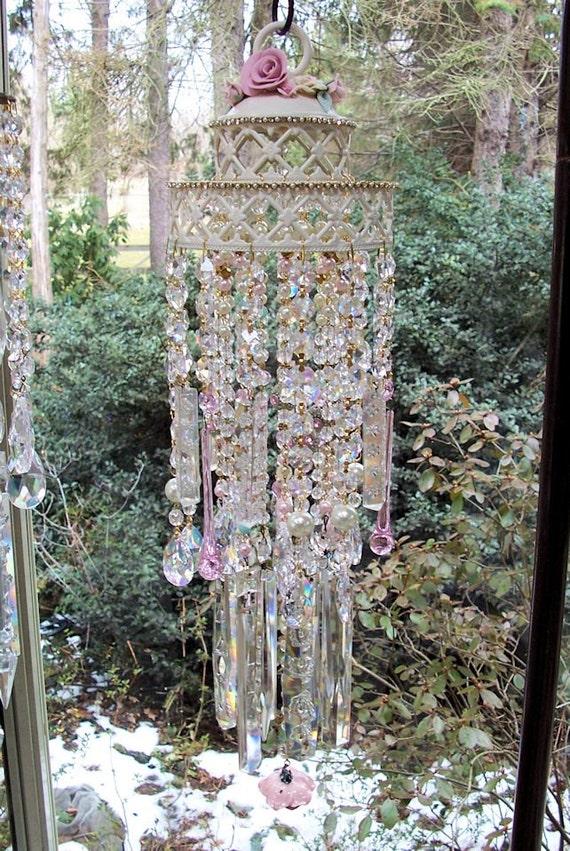 Rose Garden Antique Crystal Wind Chime