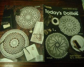 Thread Crochet Patterns Today's Doilies Leisure Arts 2093 C. Strohmeyer Pattern Leaflet