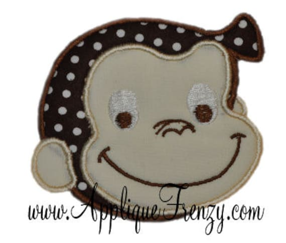 Monkey face  machine embroidery applique design