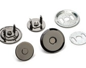 10pcs UFO Magnetic Purse Snaps 18mm - Black Nickel - (MAGNET SNAP Mag-180) - Free Shipping