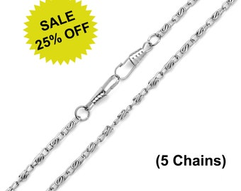 "5pcs - 48"" (120cm) Nickel Purse Chain - Free Shipping (CHAIN CHN-104)"