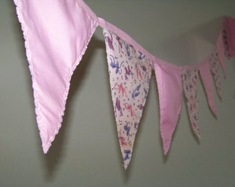Pink Ballet Fabric Pennant Banner Bunting